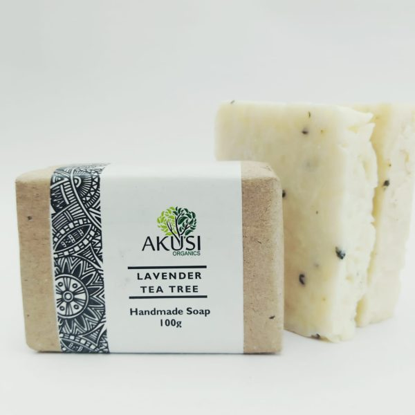 organic lavender & tea tree bath soap