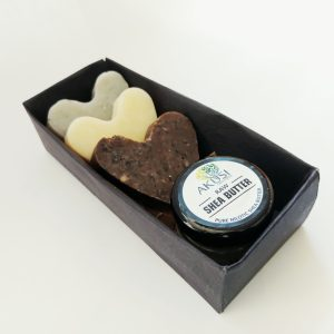 organic soap gift box with body butter